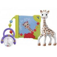 Set jucarii pentru dentitie girafa Sophie Vulli, cauciuc, zornaitoare inclusa, 3 luni+, Multicolor