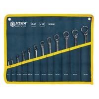 Set chei inelare cotite CR-VA Mega, 6-32 mm, 12 piese/set