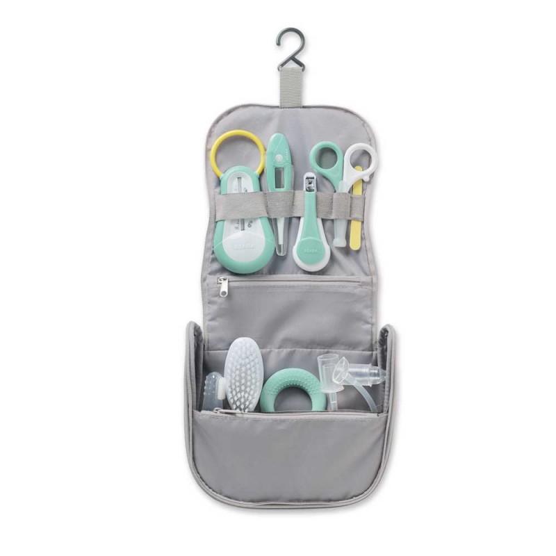 Set complet de ingrijire pentru copii Beaba, 9 accesorii, Gri 2021 shopu.ro