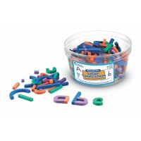 Set constructie magnetic Litere si Cifre Learning Resources, 262 piese, 4 - 8 ani