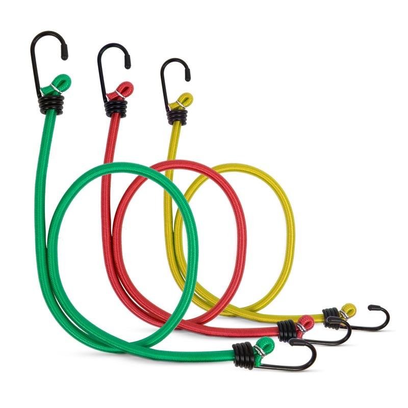 Set 6 cordeline elastice MNC, 45/60/80 cm, cauciuc, maxim 10 kg, Multicolor 2021 shopu.ro