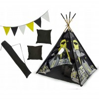 Set cort copii XXL Teepee Tutumi, 120 x 120 x 160 cm, model Batman