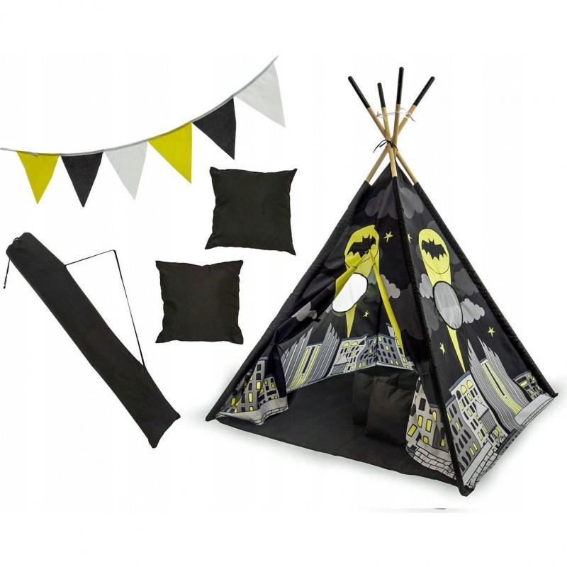 Set cort copii XXL Teepee Tutumi, 120 x 120 x 160 cm, model Batman 2021 shopu.ro