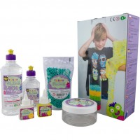 Set Creativ Super Slime Tuban, 3 ani+, Multicolor