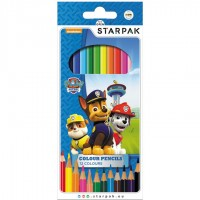 Set creioane colorate Paw Patrol SunCity, 12 bucati/set
