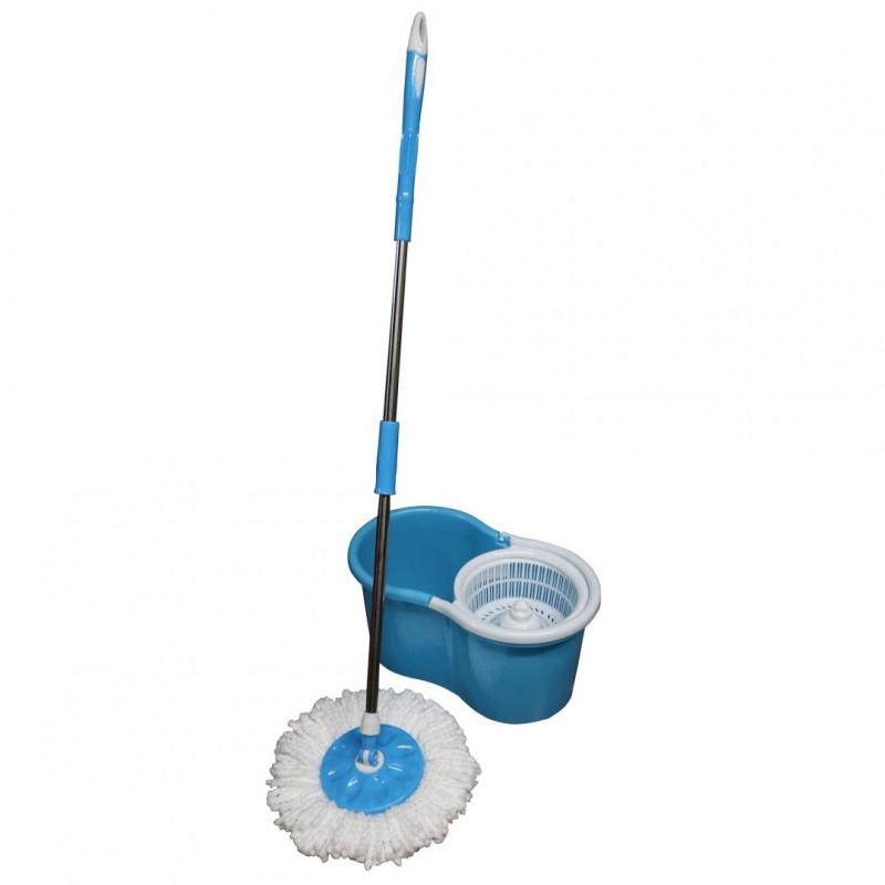 Mop rotativ Vanora, galeata inclusa, rezerva microfibra, maner telescopic, Albastru shopu.ro