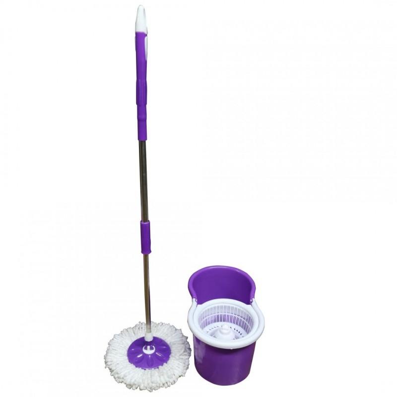 Mop rotativ Vanora, galeata inclusa, rezerva microfibra, maner telescopic, Mov shopu.ro