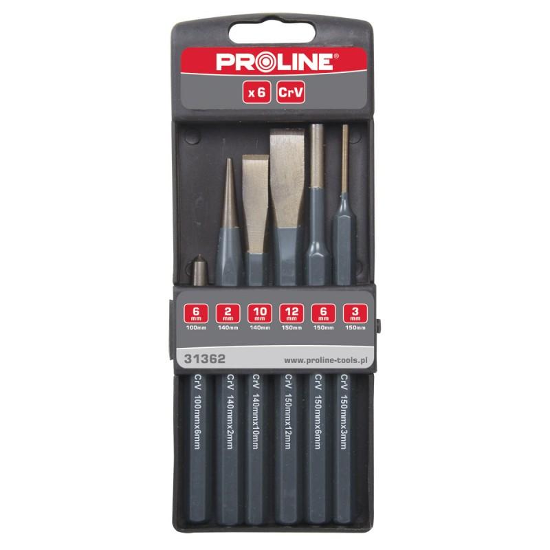 Set 6 dalti punctatoare CR-VA pentru metal Proline shopu.ro
