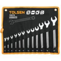 Set de 12 chei de piulite combinate Tolsen, Cr-V