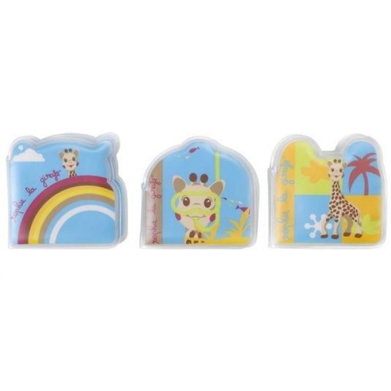 Set 3 carti pentru baie Vulli, EVA, 24 pagini, model girafa Sophie 2021 shopu.ro