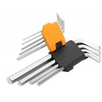 Set de 9 chei hexagonale cu brat lung Cr-V Tolsen, 1.5-10 mm