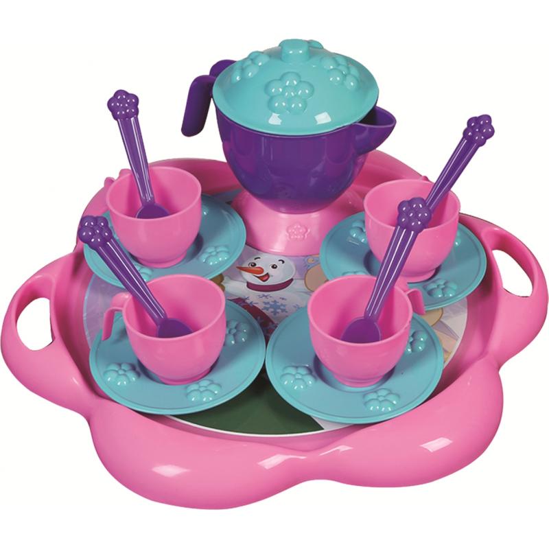 Set de ceai cu tavita Ice World Ucar Toys UC124, 16 piese 2021 shopu.ro