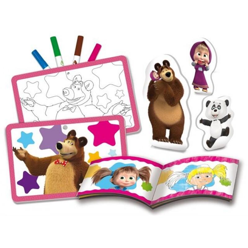 Set de colorat Masha si Ursul Lisciani, 32 pagini, 2 ani+ 2021 shopu.ro