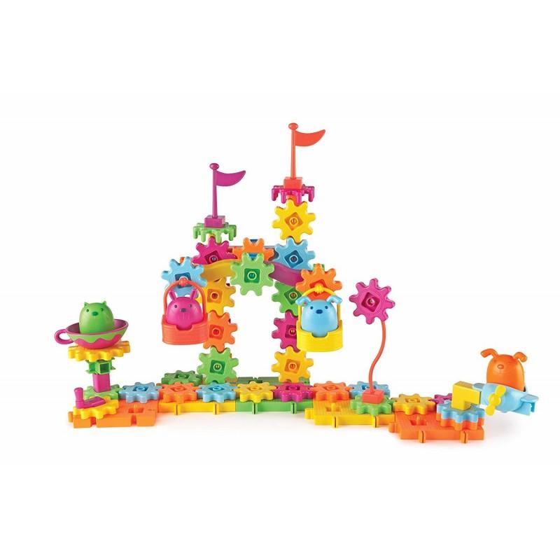 Set de constructie Gears Animalute Jucause Learning Resources, 83 piese, dezvolta creativitatea
