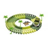 Set de constructie Parcul dinozaurilor Amewi, 54 piese, 6 ani+