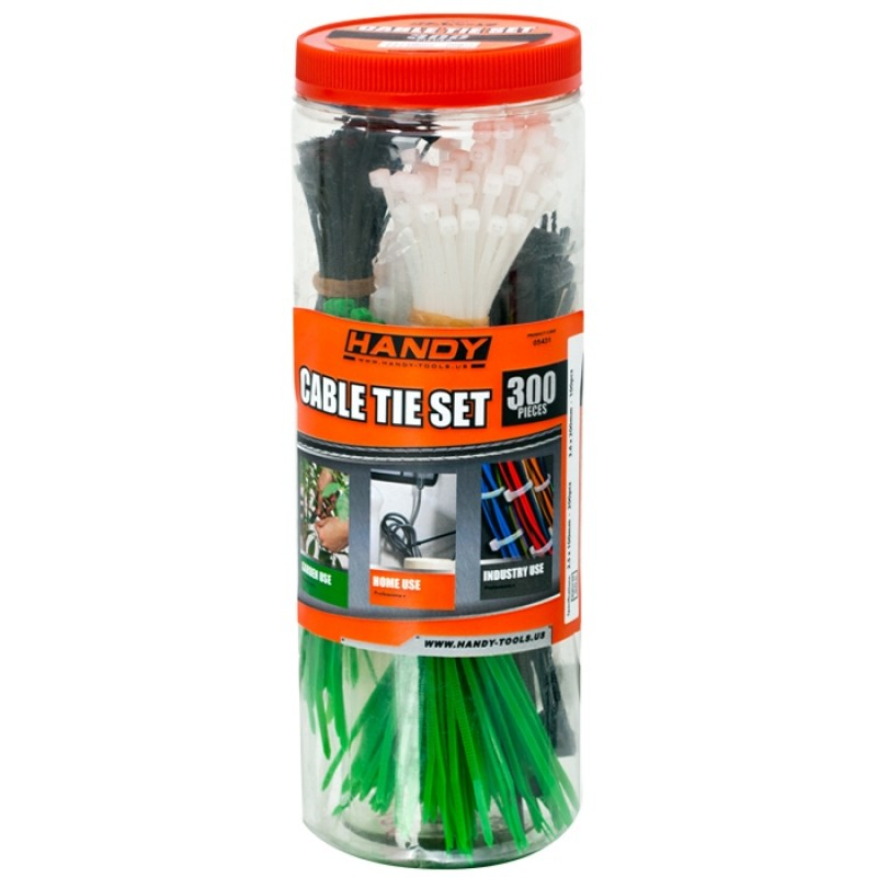 Set 300 fasete Handy, 2.5 x 100 mm/3.6 x 200 mm, nylon, Multicolor 2021 shopu.ro