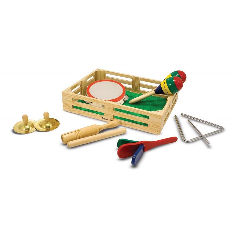 Set de instrumente muzicale din lemn, 10 piese 2021 shopu.ro