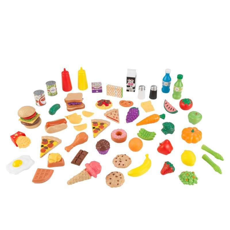 Set de joaca Alimente Diverse Kid Kraft, 65 piese, Multioclor 2021 shopu.ro