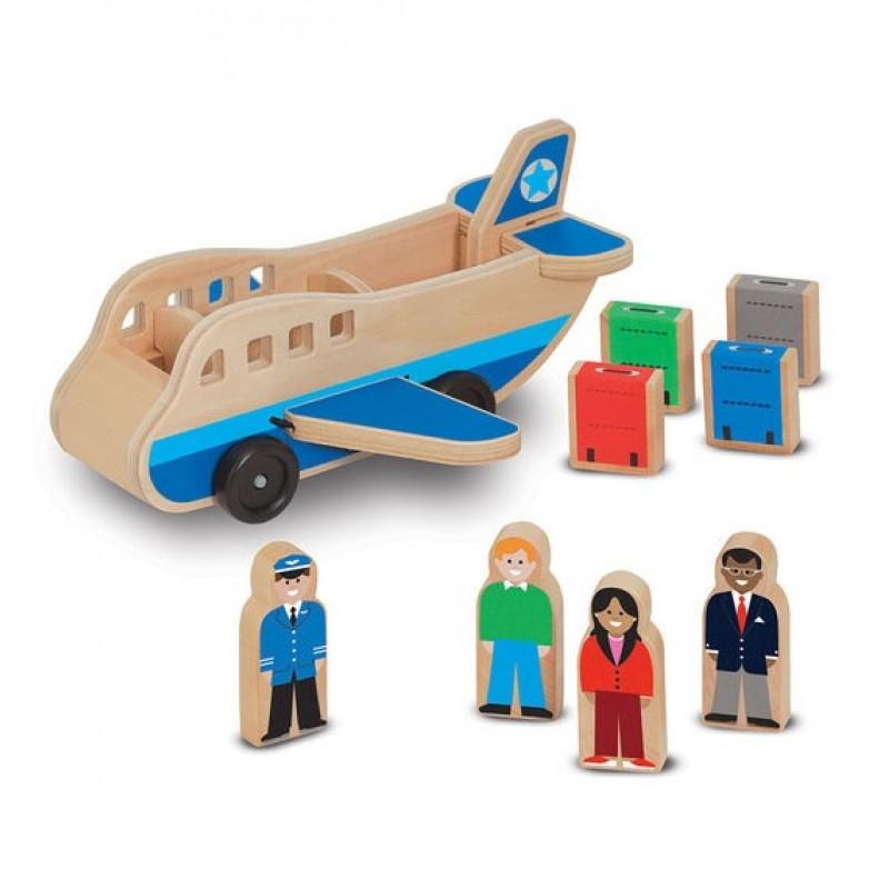 Set de joaca Avion cu pasageri Melissa and Doug, lemn 2021 shopu.ro
