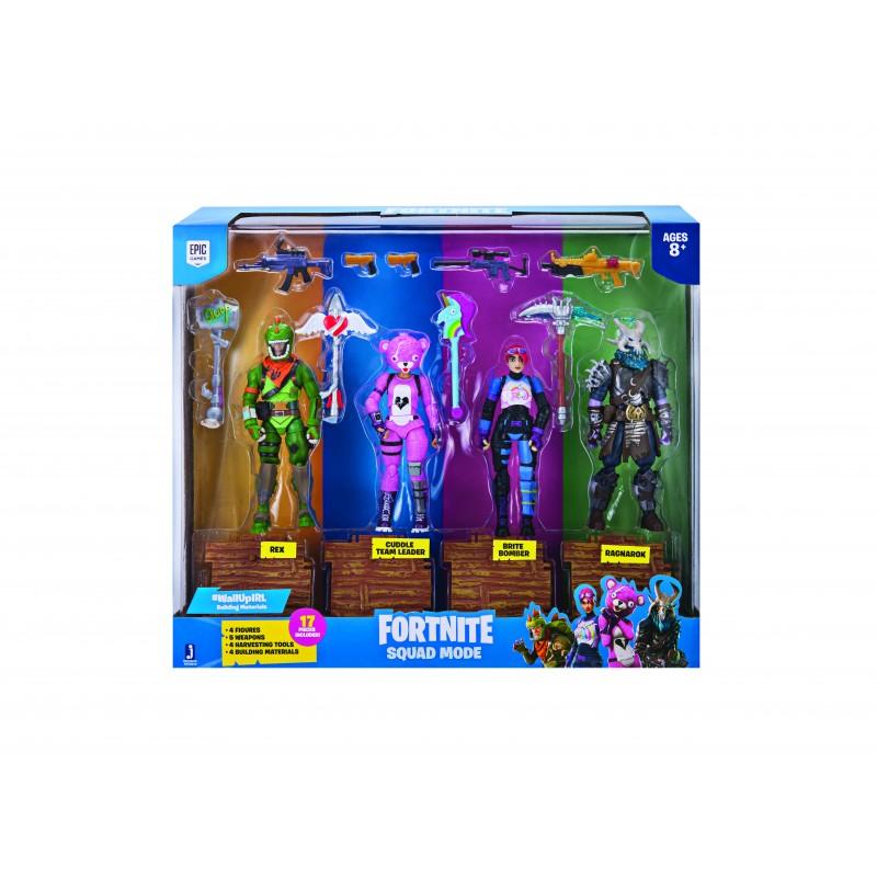 Set 4 figurine si accesorii Fortnite Squad Mode, 8 ani+