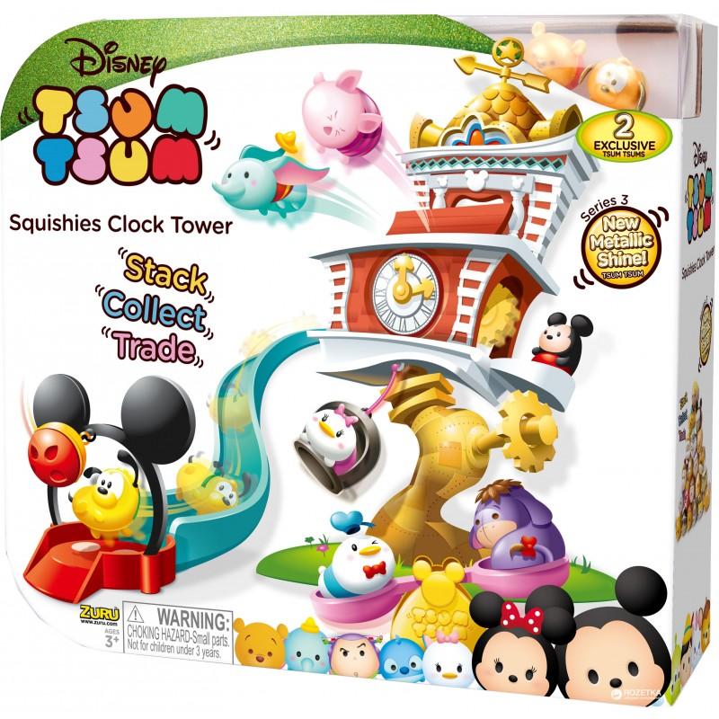 Set de joaca Tsum Tsum Turnul cu ceas, 25 x 40 cm, 3 ani+ 2021 shopu.ro