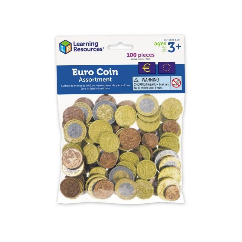 Set de monede de jucarie (Euro) Learning Resources, 3 ani+