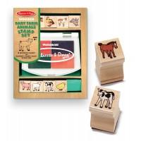 Set de stampile Pui de animale domestice, Melissa and Doug