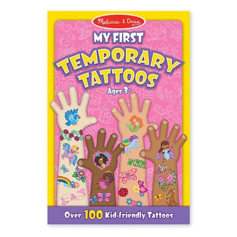 Set de tatuaje temporare Fetite, Melissa and Doug, 100 piese 2021 shopu.ro