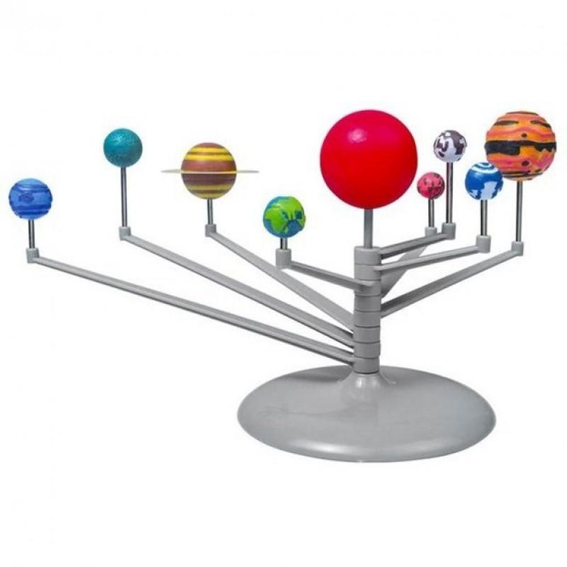 Set constructie Sistem solar pentru birou Iso Trade, 16 x 10 x 9 cm, 8 brate rotative, 3 ani+, Multicolor 2021 shopu.ro