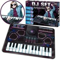 Jucarie interactiva tip covor DJ Tobar, 90 x 70 cm, microfon inclus, 3 ani+