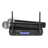 Set 2 microfoane VHF Azusa, modulatie FM, antena integrata, Negru
