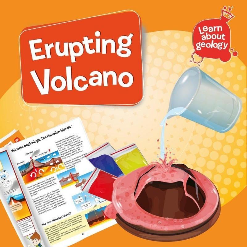 Set 5 experimente Eruptia vulcanica, 23 cm, 6 ani+