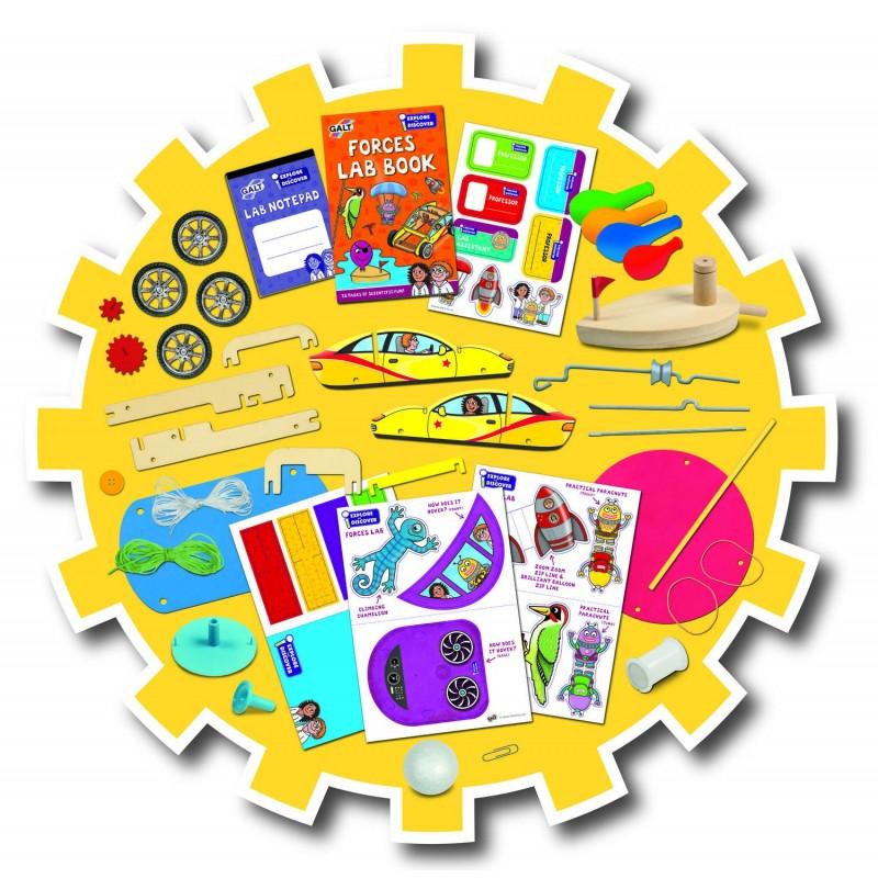 Set 13 experimente pentru copii Galt Forta, 6 ani+