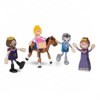 Set figurine flexibile Familia Regala Melissa & Doug, 7 piese, Multicolor
