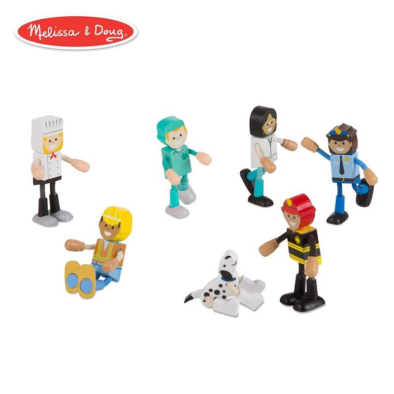 Set figurine flexibile Meserii Melissa & Doug, 8 cm, Multicolor