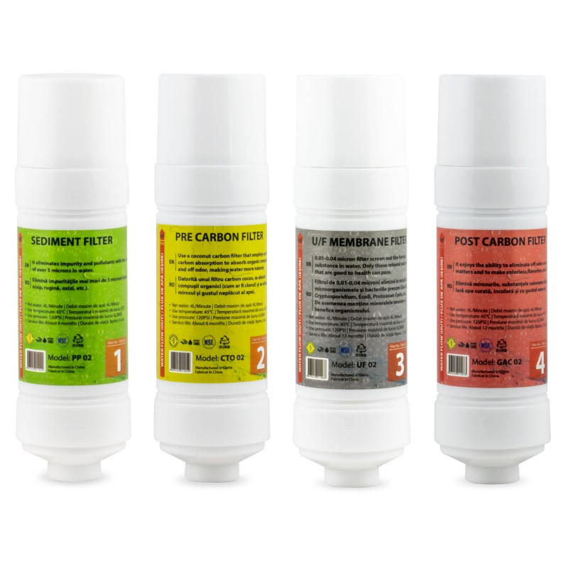 Set filtre apa Zass, 4 bucati, compatibilitate ZWD 03 WF/ZWD 04 WF