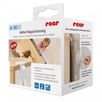Set fixare anti-inclinare mobilier Reer, 6 luni+
