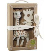 Jucarie pentru dentitie girafa Sophie So Pure Vulli, 17 cm, cauciuc, 0 luni+