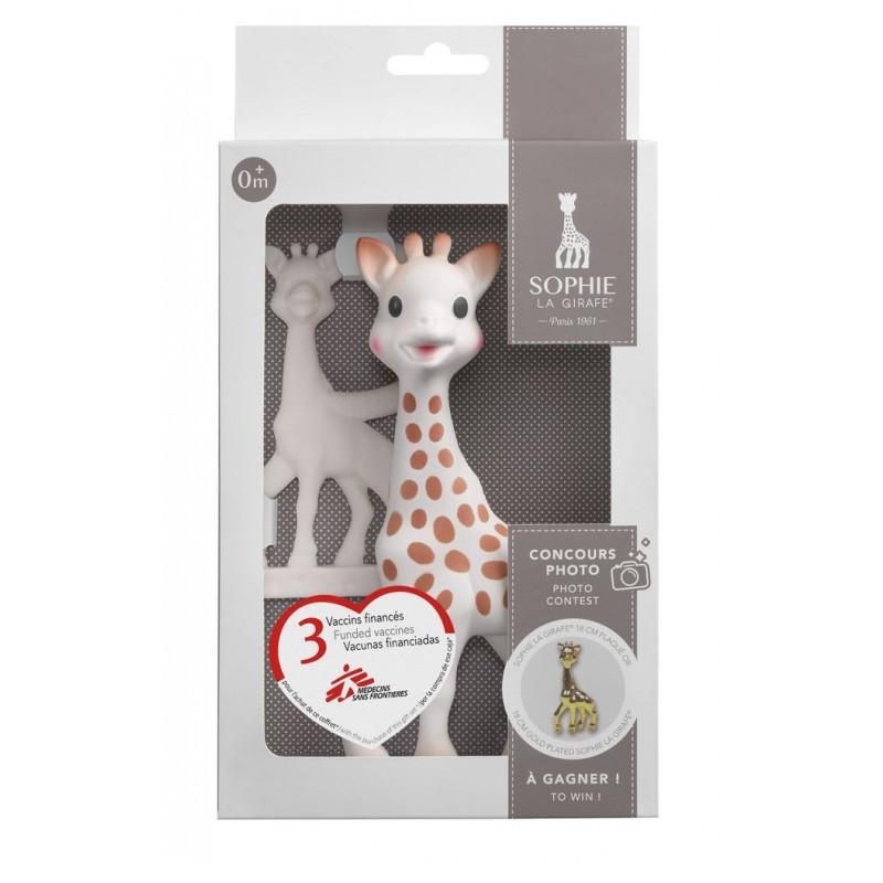 Set pentru dentitie girafa Sophie Vulli, cauciuc natural, 17 cm, 0 luni+ 2021 shopu.ro