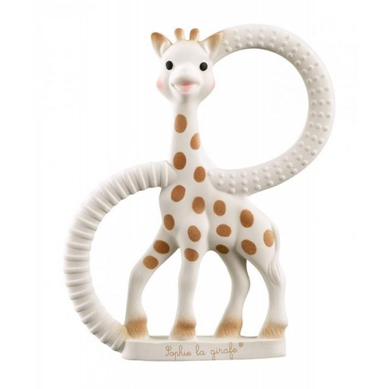 Set inele pentru dentitie girafa Sophie Vulli, cauciuc natural, 3 luni+ 2021 shopu.ro