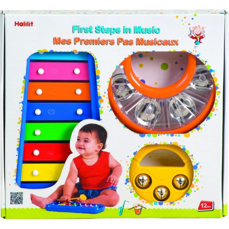 Set jucarii muzicale Primii pasi in muzica Halilit, 12 luni+, Multicolor