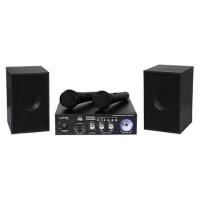 Set karaoke, amplificator usb, 2 microfoane, 2 boxe