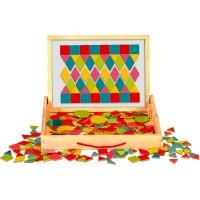 Set magnetic cu forme geometrice Fiesta Crafts, 220 piese, 3 ani+