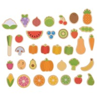 Set magnetic Fructe si Legume, 35 piese, 3 ani+