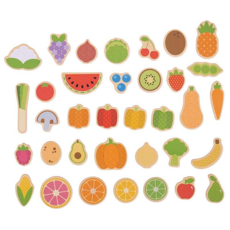 Set magnetic Fructe si Legume, 35 piese, 3 ani+ 2021 shopu.ro