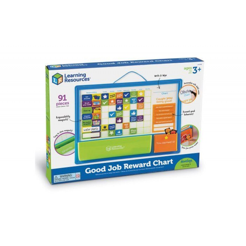 Set magnetic Panoul recompenselor Learning Resources, 90 piese, 3 - 7 ani