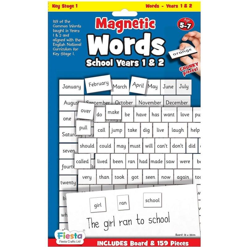 Set magnetic Primele cuvinte in limba Engleza Fiesta Crafts, 160 piese, 18 x 25.5 cm, 5 ani+ 2021 shopu.ro
