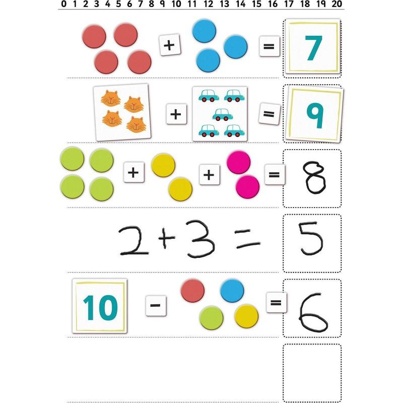 Set magnetic Primele notiuni de matematica Fiesta Crafts, 111 piese, 3 ani+ 2021 shopu.ro
