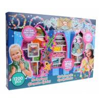 Set margele decorative 3 in 1 Eddy Toys, plastic, 1200 piese, 6 ani+, Multicolor