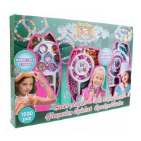 Set margele decorative 3in1 Eddy Toys, plastic, 1200 piese, 6 ani+, Verde